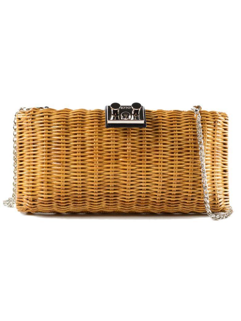 Rodo Clutch Basket Shoulder Bag In Black