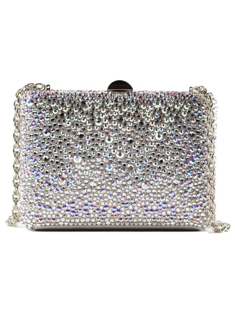 Rodo Embellished Shoulder Bag In Silver