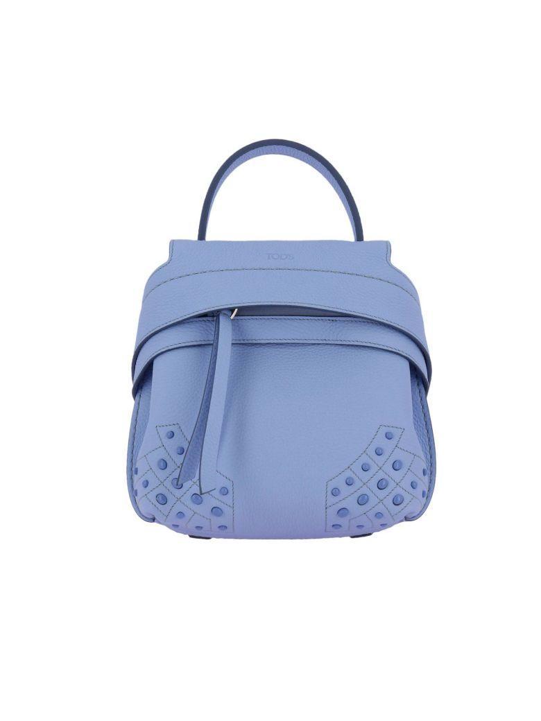 Tod's Backpack Shoulder Bag Women Tods In Gnawed Blue