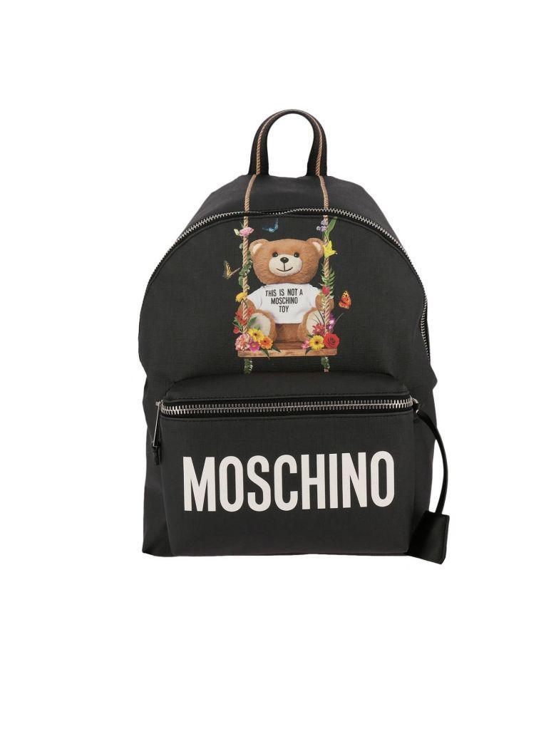Moschino Playboy Toy Bear背包 In Black
