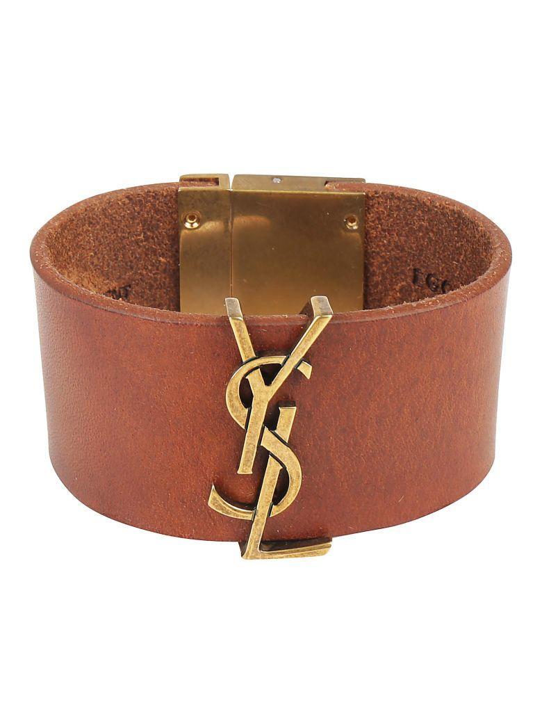 Saint Laurent Bracelet In Dark Brown