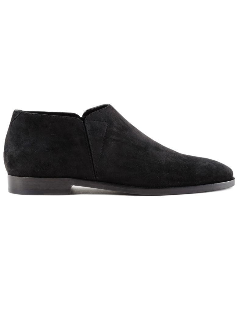 Saint Laurent Slim Slipper Vel. Lace Shoes In Black