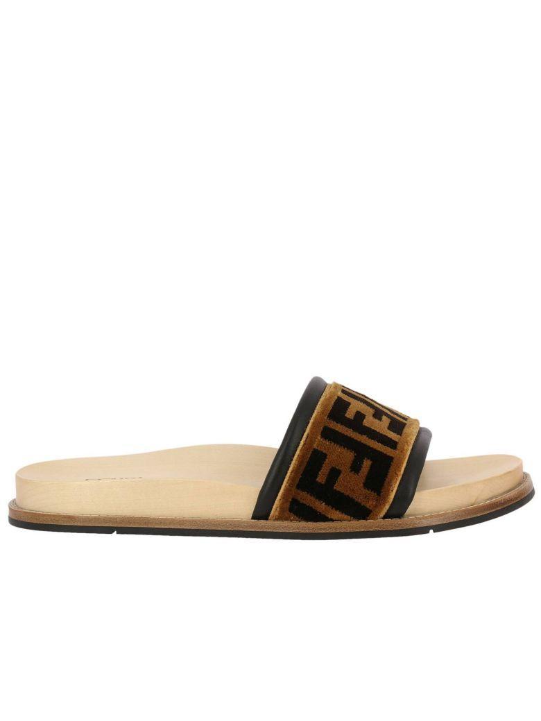 Fendi Sandals Shoes Men  In Tobacco