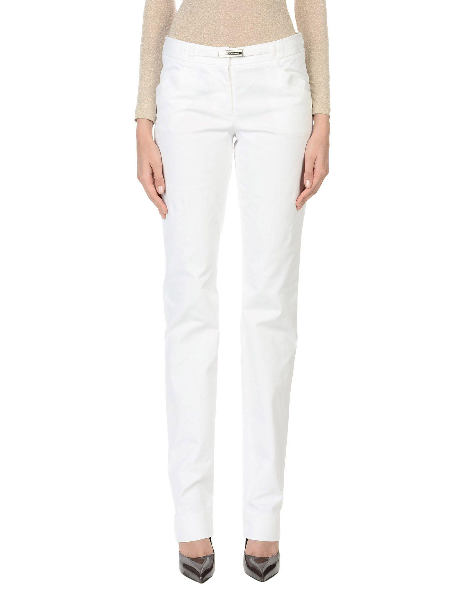 Dolce & Gabbana Casual Pants In Ivory