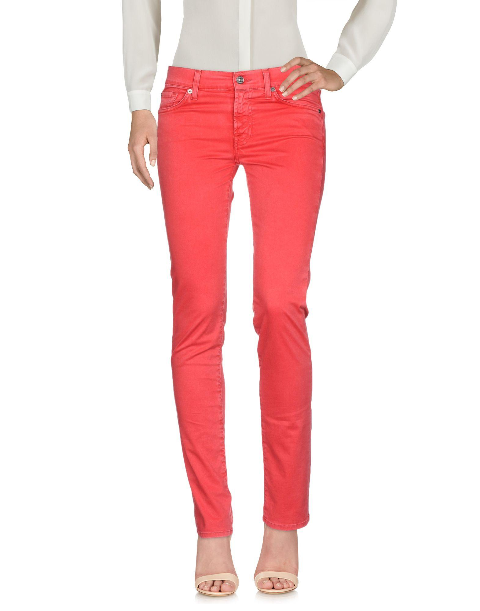 7 For All Mankind Casual Pants In Red