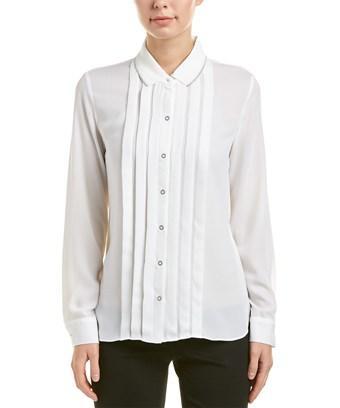 T Tahari Top In White