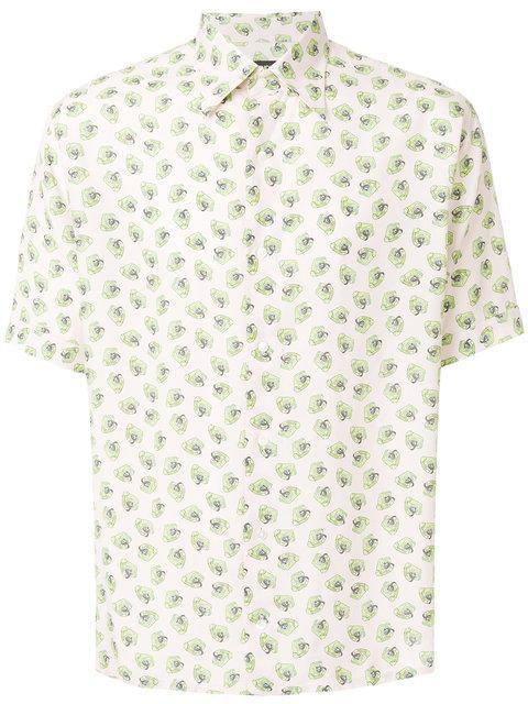 Fendi Telephone-Print Shirt In Pink