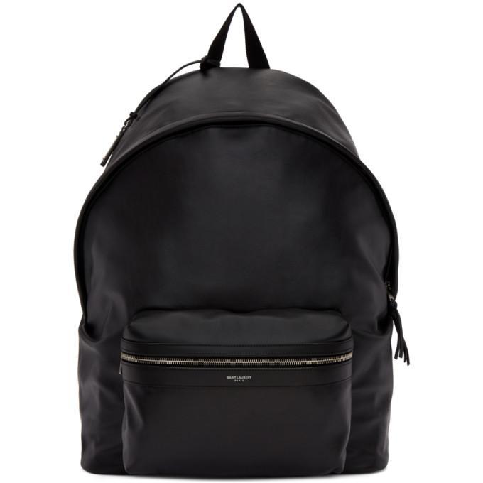 b76723d1e8 Saint Laurent Black Leather Giant City Backpack in 1000 Black