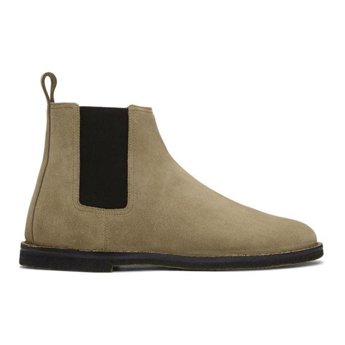 c0fa4740851 Saint Laurent Tan Suede Crepe Sole Oran Chelsea Boots In 9870 L Ciga ...