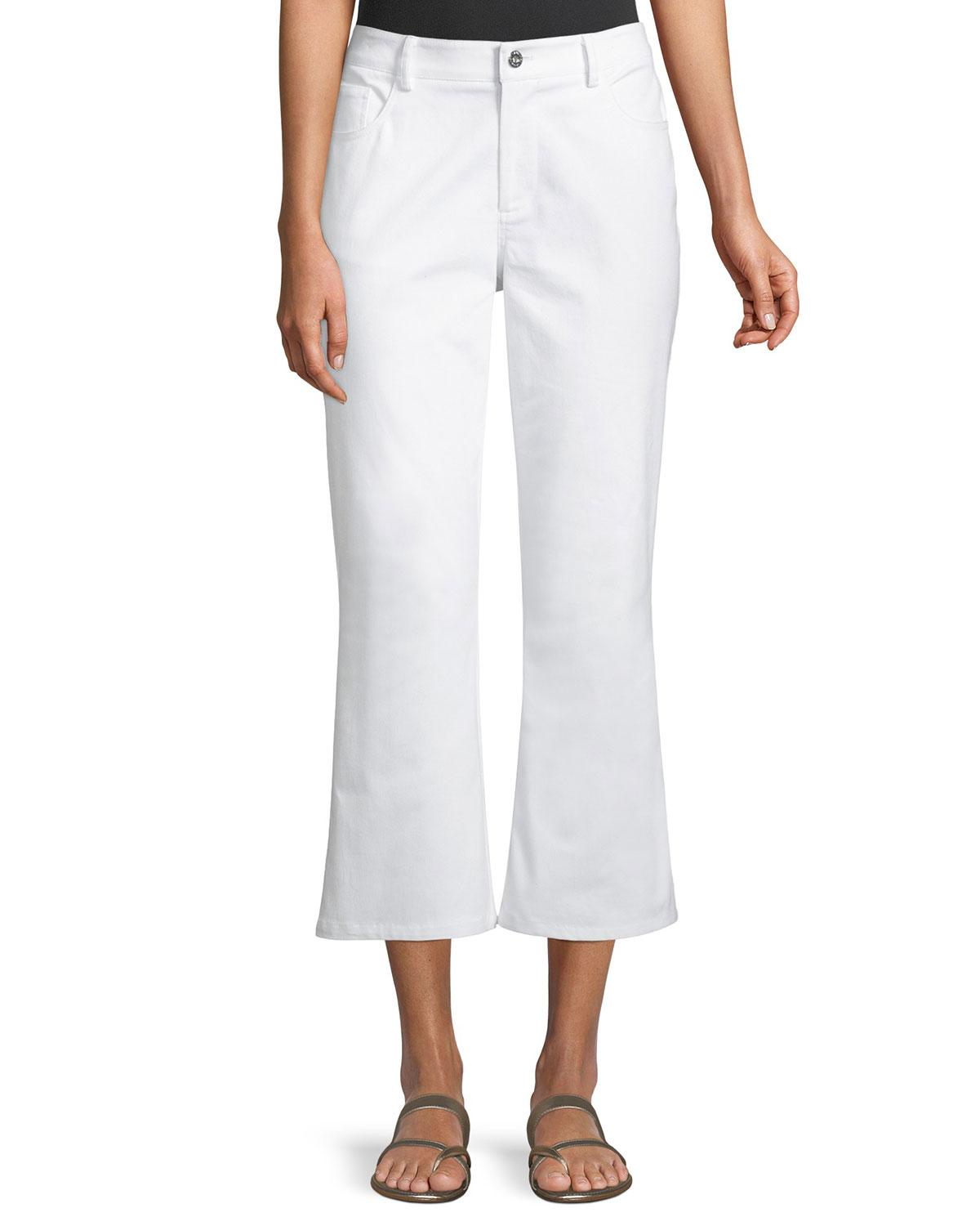 Laundry By Shelli Segal Cropped Flare Pants, White