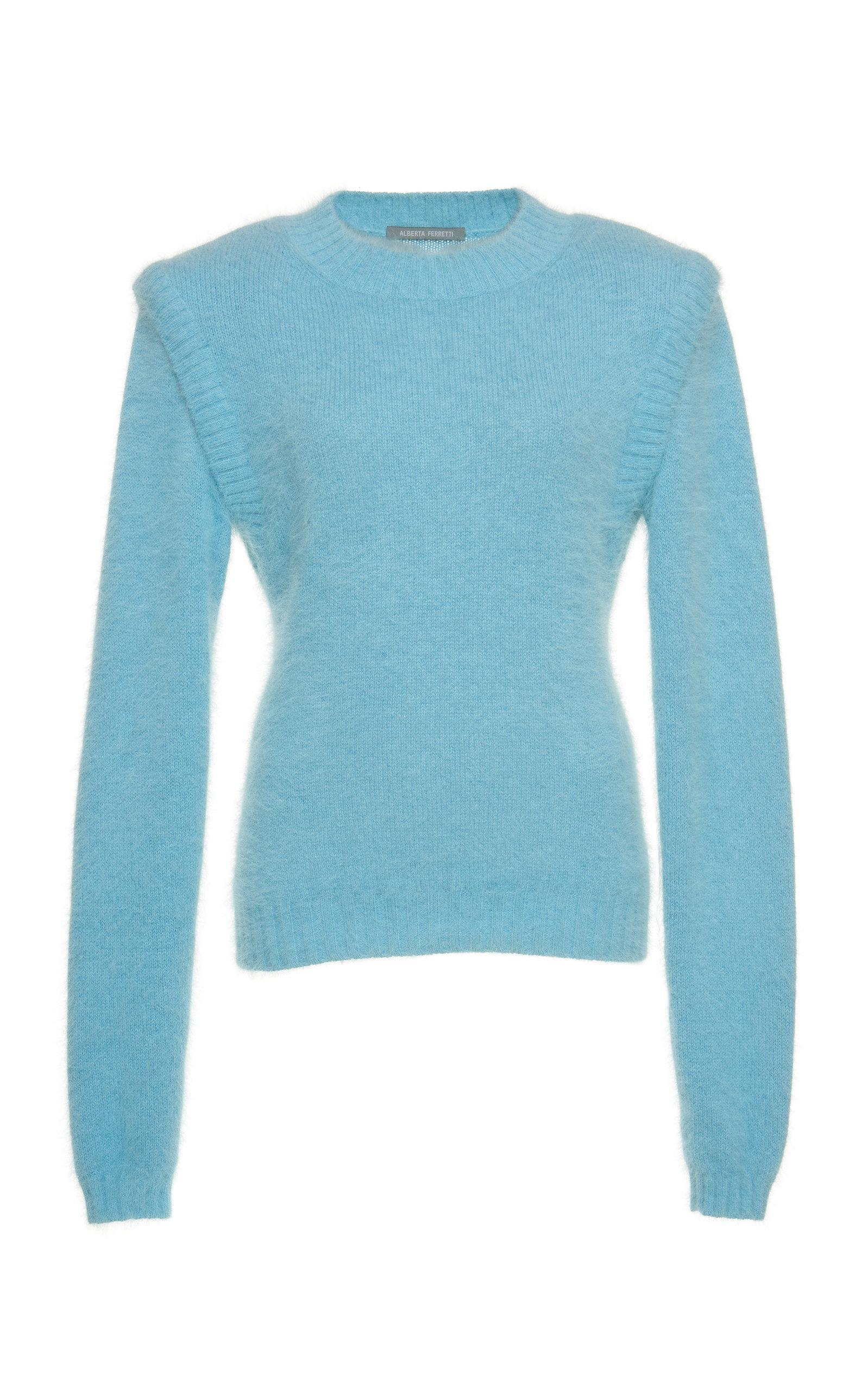 scarpe di separazione 214e8 5b932 Angora Wool Pullover in Blue