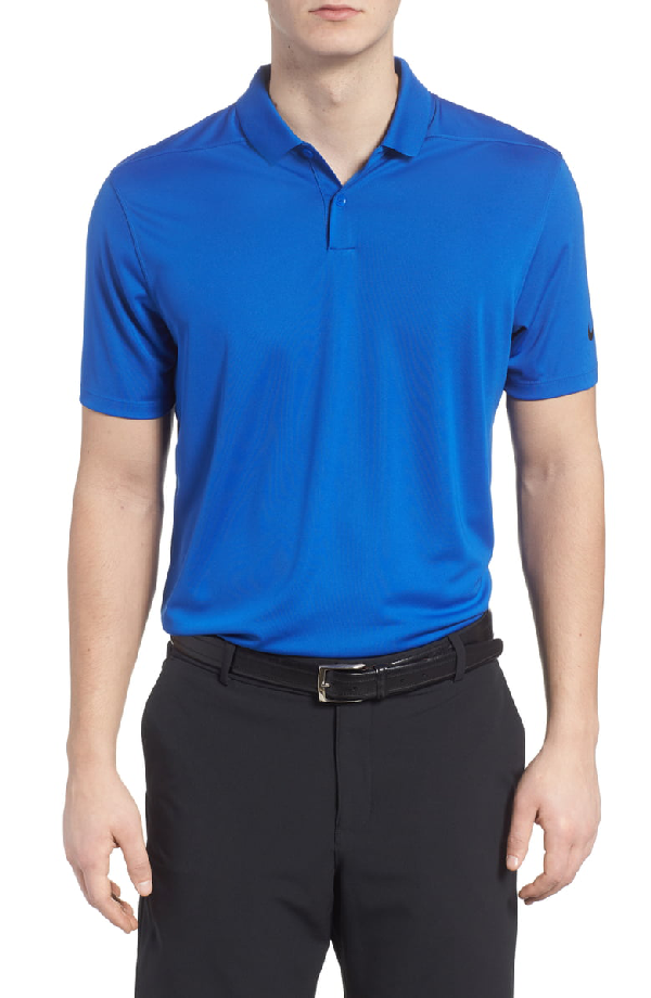 2b248fd6 Nike Victory Dri-Fit Solid Golf Polo In Game Royal/ Black | ModeSens