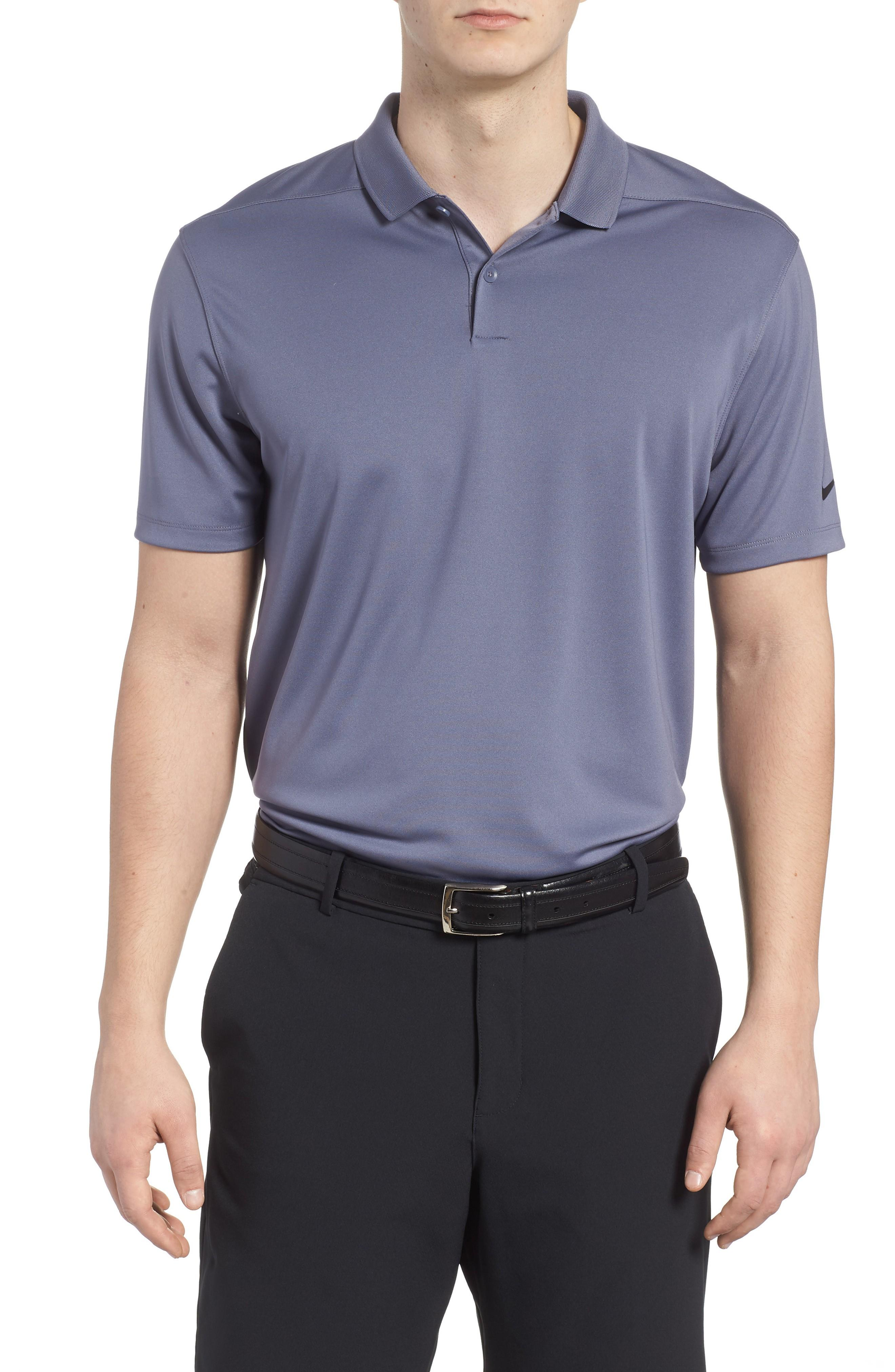 d5c977109cb Nike Dry Victory Golf Polo In Thunder Blue  Black