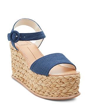 c1042b021b7 Women's Dane Espadrille Platform Wedge Sandals in Indigo