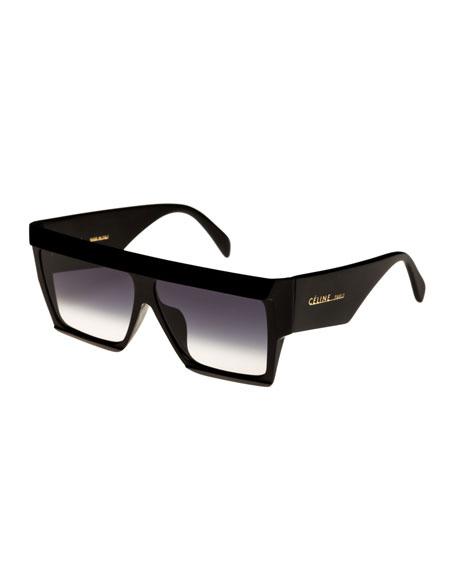 726eb89db88af Celine 60Mm Flat Top Sunglasses - Transparent Red  Brown