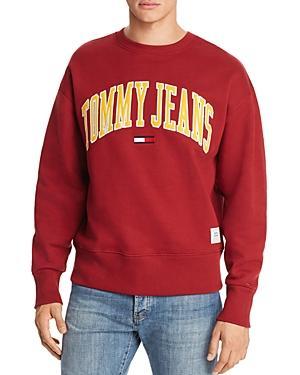 6429cacf Tommy Hilfiger Tommy Jeans Collegiate Crewneck Sweatshirt In Merlot ...