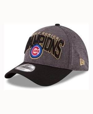 New Era Chicago Cubs World Series Locker Room 39Thirty Cap In Heather/Black
