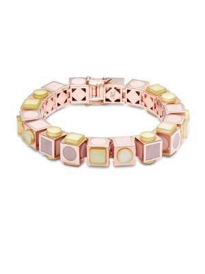 Eddie Borgo Mosaic Cube Bracelet In Rose Gold
