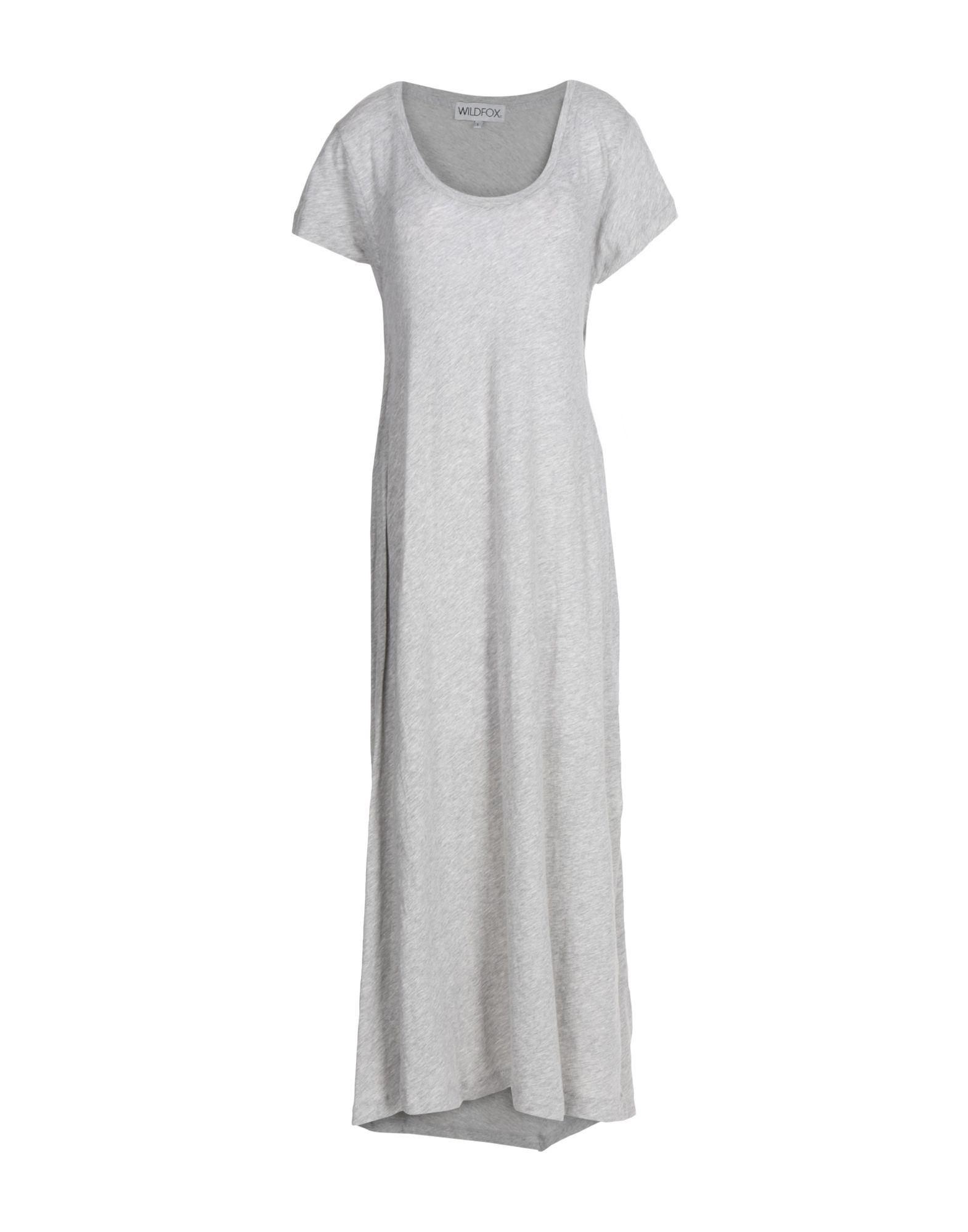 Wildfox Long Dress In Grey