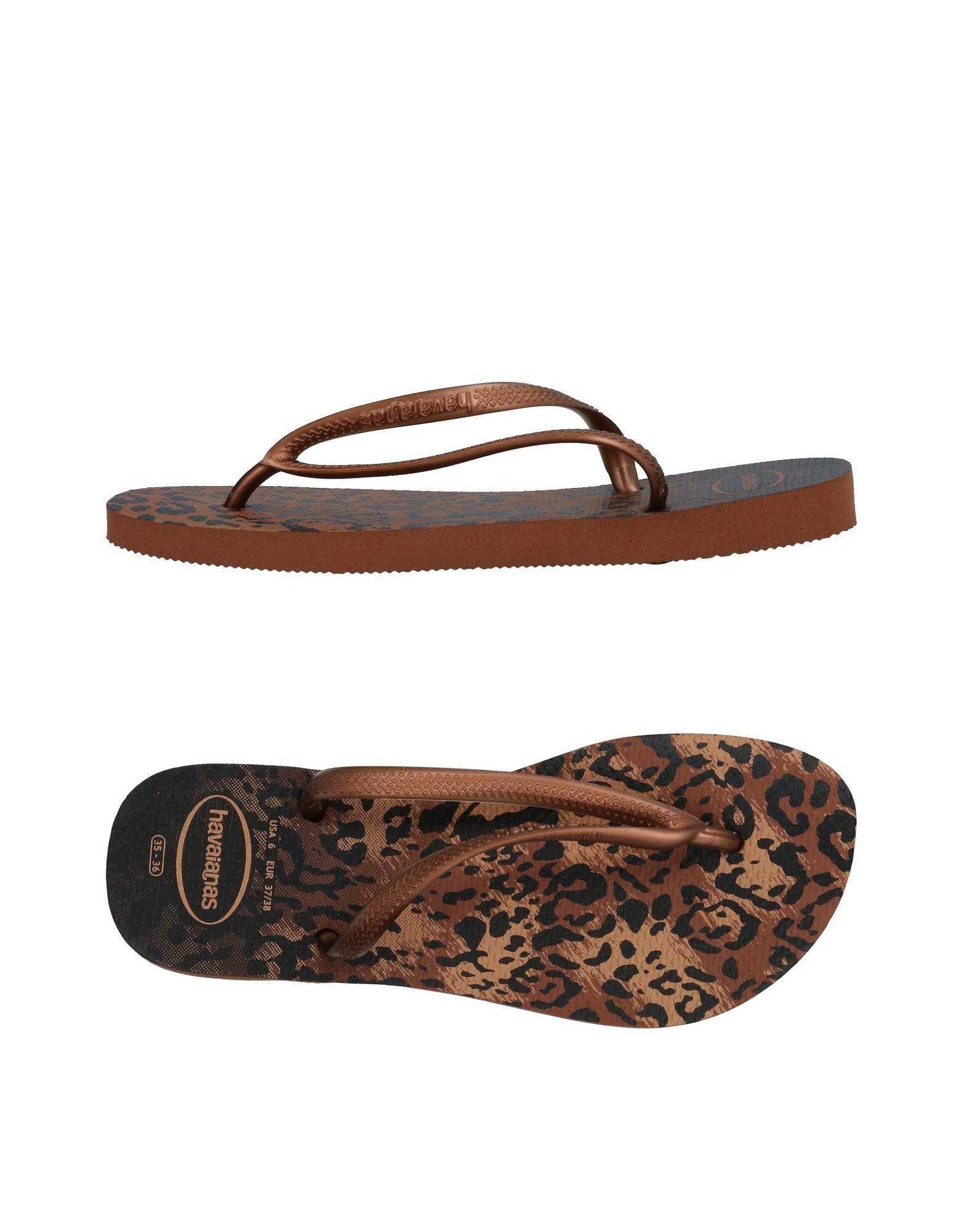 Havaianas Toe Strap Sandals In Copper