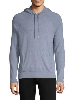 Michael Kors Mix Texture Hoodie In Wave Mel