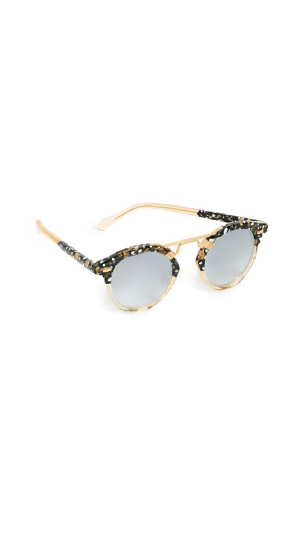 033ec0acf21d Krewe Women s Stl Ii 24K Mirrored Round Sunglasses