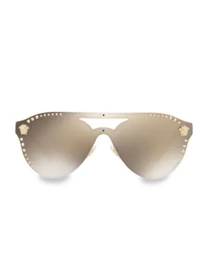 30099e78ab Versace Medusa 60Mm Crystal Shield Sunglasses - Gold Mirror In Gold  Mirror Gold