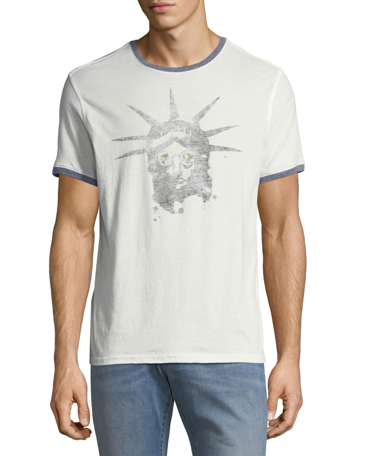 09702dba1 John Varvatos John Lennon-Print Cotton T-Shirt In White | ModeSens