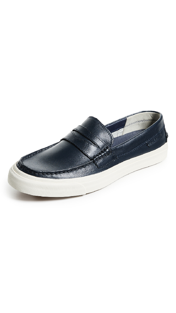 f549ca30e38 Cole Haan Men s Pinch Weekender Penny Loafer Sneakers In Navy Handstain