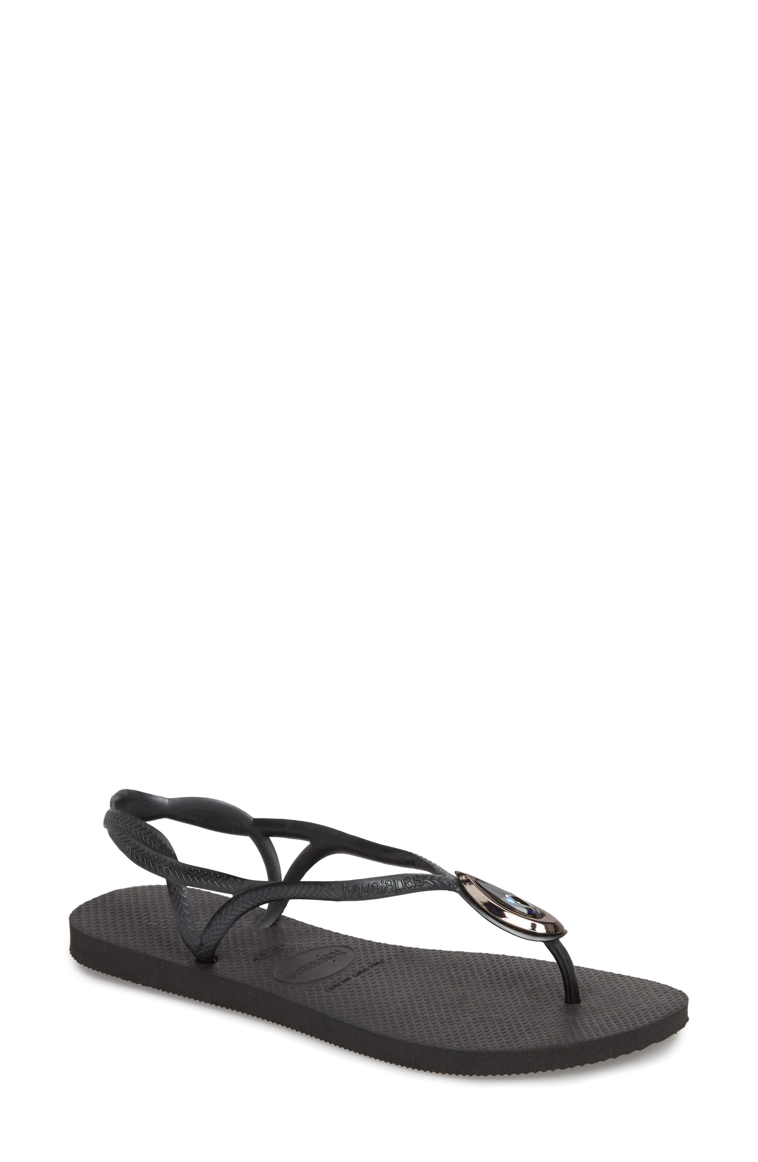 c3001b3a4 Havaianas Luna Sandal In Black  Black