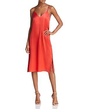a57071e96e45 Anine Bing Gemma Silk Slip Dress In Red | ModeSens