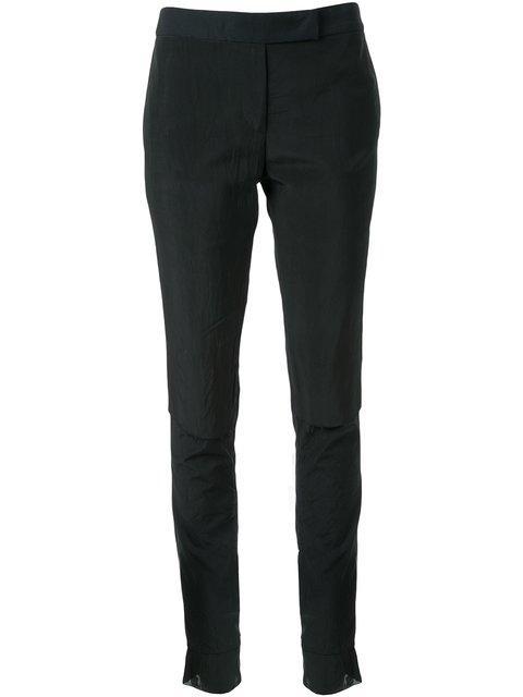 Yang Li Slim Fit Trousers In Black