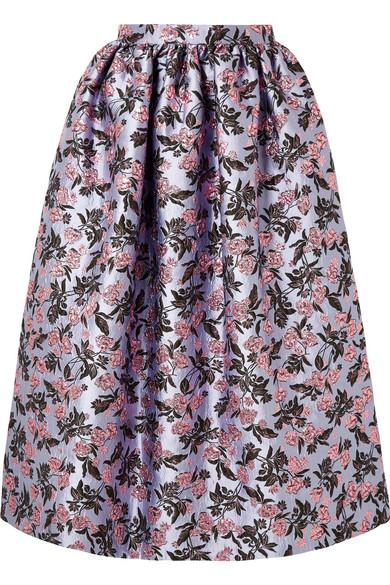 10b57bfcf Erdem Hebe Metallic Brocade Midi Skirt In Lilac | ModeSens