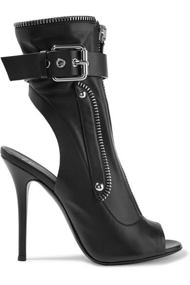 Giuseppe Zanotti Kendra Buckled Leather Ankle Boots In Black