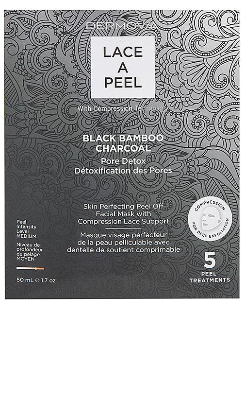 Dermovia Black Bamboo Charcoal Lace A Peel Mask 5 Pack In N,a