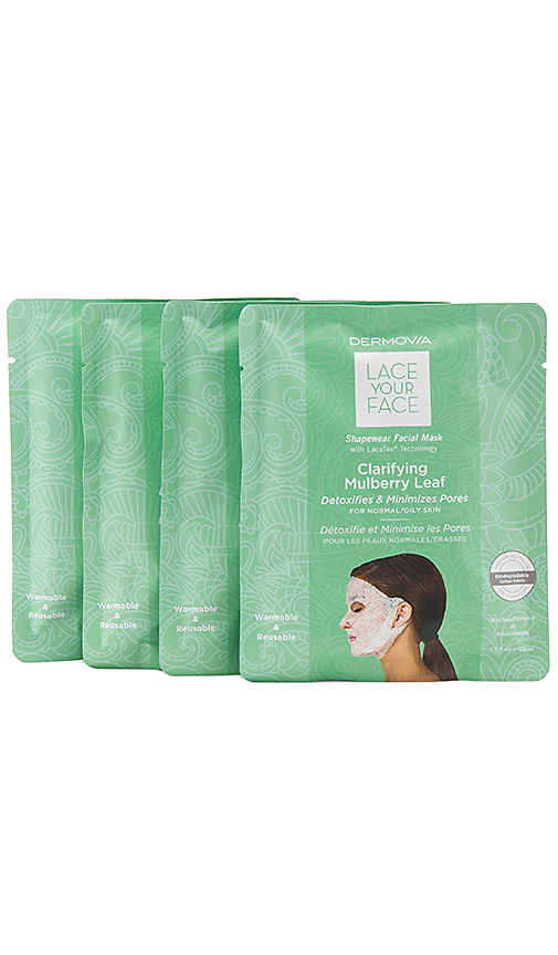 Dermovia Clarifying Mulberry Lace Your Face Mask 4 Pack In N,a