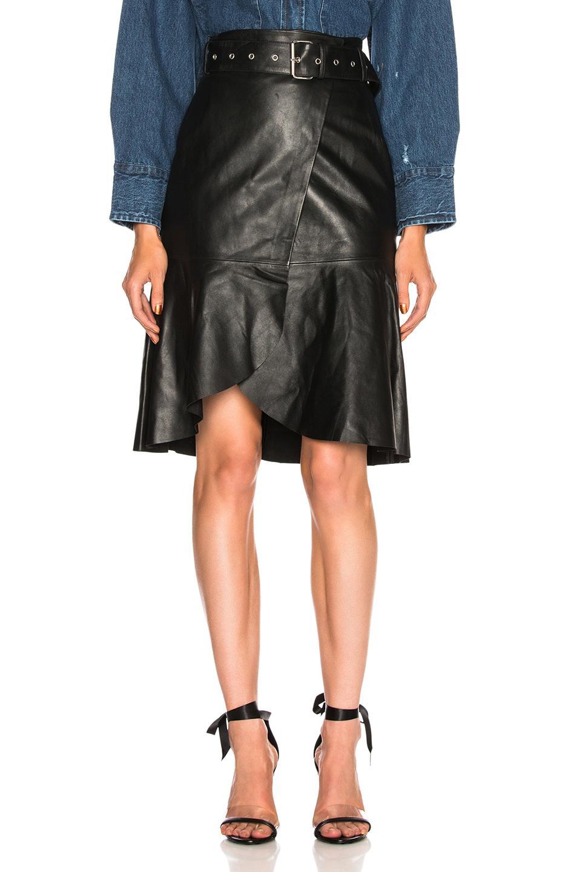 af9210963c3 Palmer Girls X Miss Sixty Leather Skirt In Black
