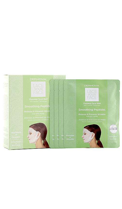 Dermovia Smoothing Peptides Lace Your Face Mask 4 Pack In N,a