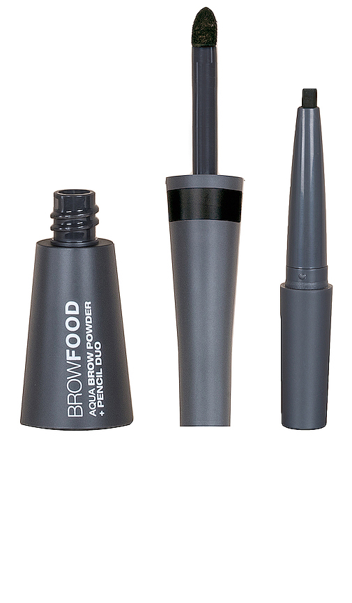 Lashfood Browfood Aqua Brow Powder + Pencil Duo In Charcoal