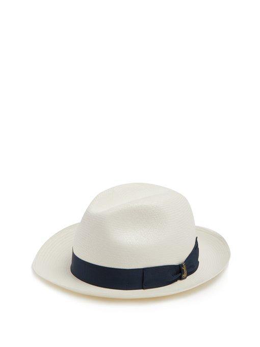 Borsalino - Panama Fine Toquilla Straw Hat - Mens - Cream Multi