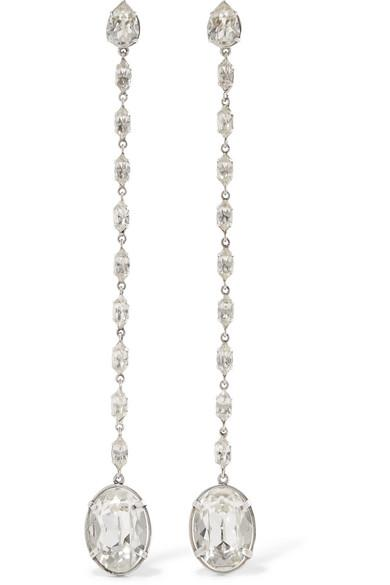 7db672dbc0 Silver-Plated Crystal Clip-On Earrings