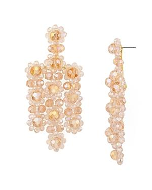 082a4f7784763 Kate Spade New York Gold-Tone Colored Bead Flower Drop Earrings In ...