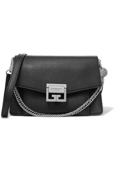 8f69323c76a Givenchy Gv3 Small Textured-Leather Shoulder Bag In Black