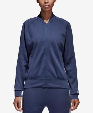 Adidas Originals Adidas Id Knit Bomber Jacket In Noble Indigo