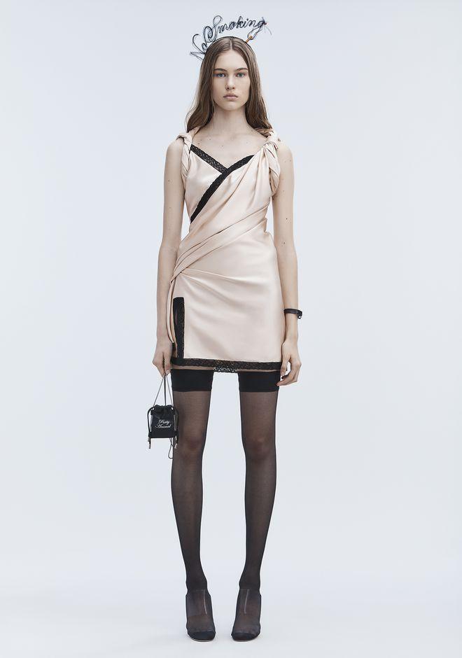 c3004e89314c9 Alexander Wang Twisted Silk Slip Dress, Pink, Us 4   ModeSens