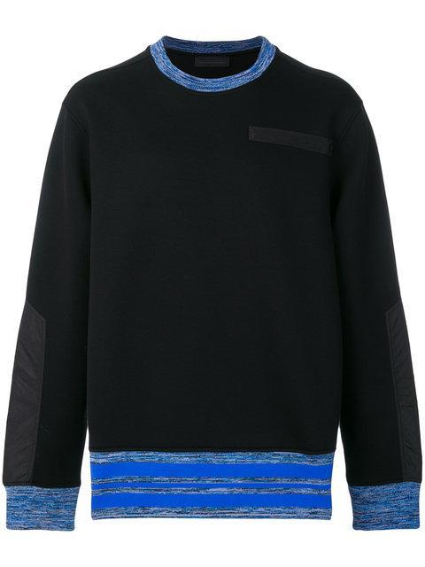 Diesel Black Gold Contrast Panel Sweatshirt
