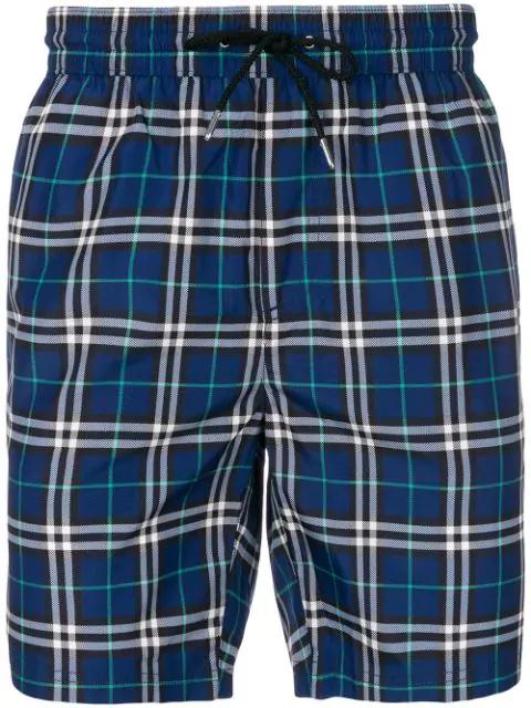 06fbbdde4f Burberry House Check Swim Shorts In Blue   ModeSens