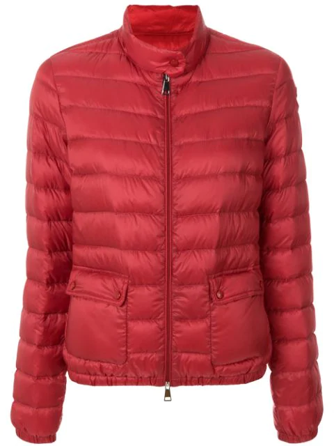 Moncler Puffer Jacket In Red