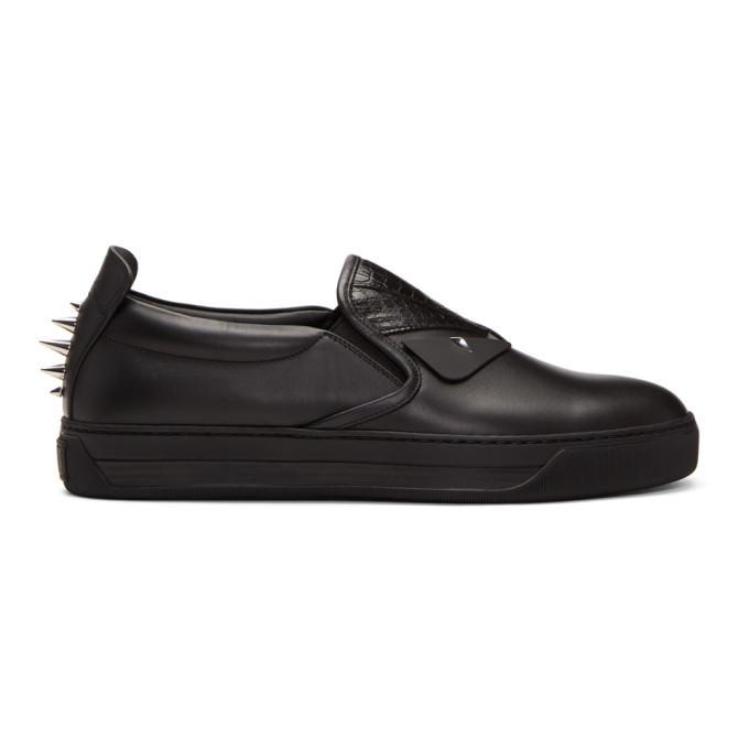 9fd5637e Black Snakeskin 'Bag Bugs' Slip-On Sneakers