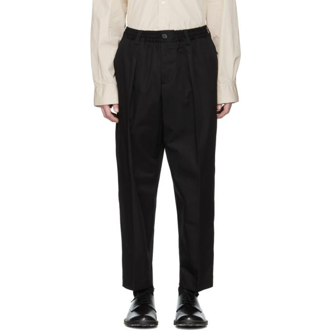 Marni Black Cropped Trousers In 0065S